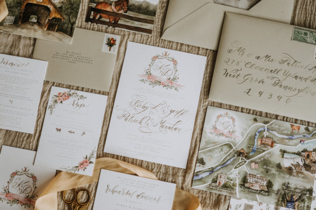 Vermont Wedding Paper Stationary