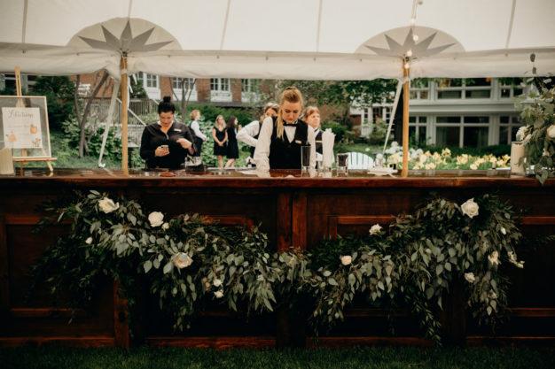 Reception Bar Floral Installation