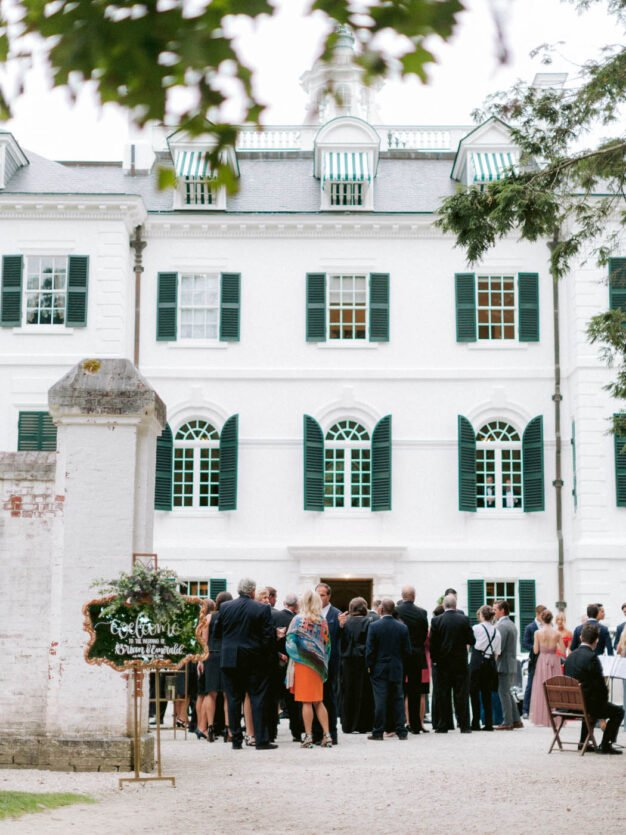Forecourt at the Mount wedding venue